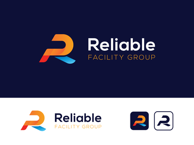 Reliable Facility Group janitorial facility maintenance branding design branding logo design logo