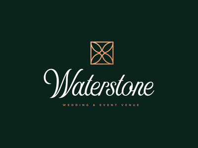 Waterstone Event Venue Logo wedding venue event venue branding logo design logo