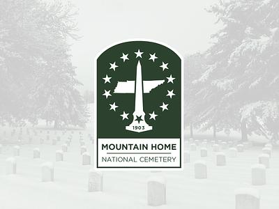 Logo for Mountain Home National Cemetery va tennessee military branding logo design logo