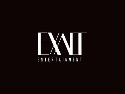 Exalt Entertainment art deco nightlife branding logo design logo