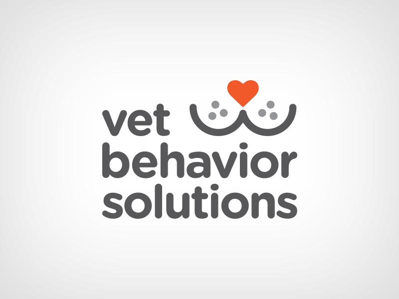 Vet Behavior Solutions Logo 2 pets cat smile heart whiskers vet pet logo gotham rounded vet logo