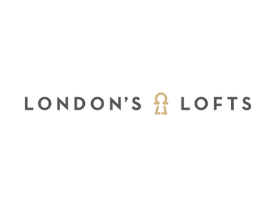 London's Lofts Logo Concept neutra apartments lofts keyhole omega london