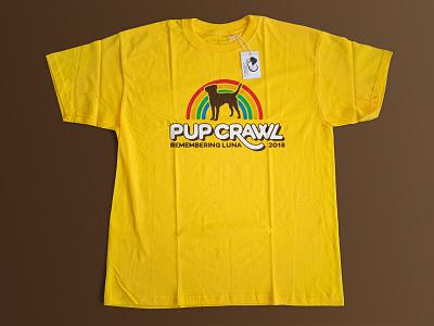 Pup Crawl T-Shirt tshirt rainbow dog