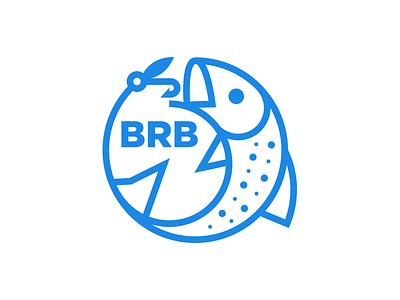 Blue Ridge Boatworks Icon blue ridge trout logo design logo boat fly fishing fish