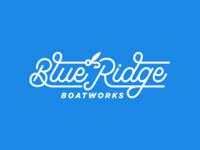 Blue Ridge Boatworks Script Logo
