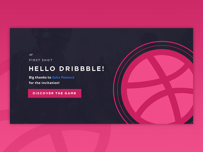Hello Dribbble! vietnam ui headers thanks you invite invitation first shot debut