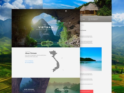Vietnam Discovery art direction images places discovery travel vietnam ux ui