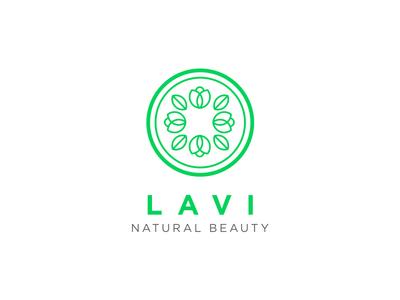 Lavi brand circle lavi vietnam branding nature green beauty logo