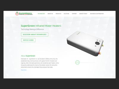 SuperGreen Website supergreen water full screen interactive 3d ux ui