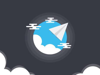Cloud Illustration vector star space planet light jet illustration flat design cloud