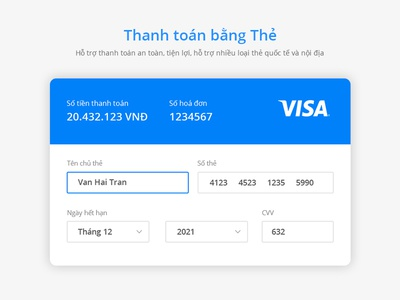 Payment UI Form card bank form payment ui