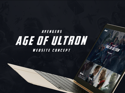 Avengers Website Concept age of ultron landingpage website dark website ui avengers