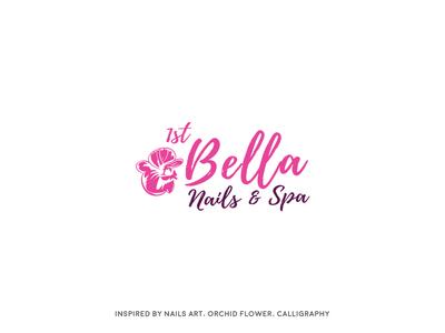 Bella woman 1st branding logo spa nails