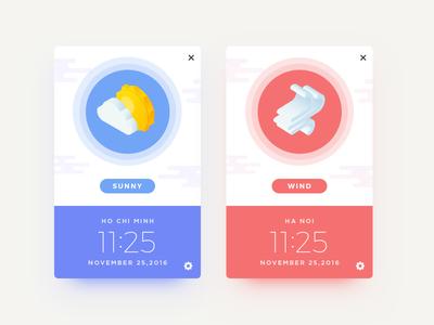 Weather - 001 dailyui ui  weather hanoi ho chi minh daily challenge app