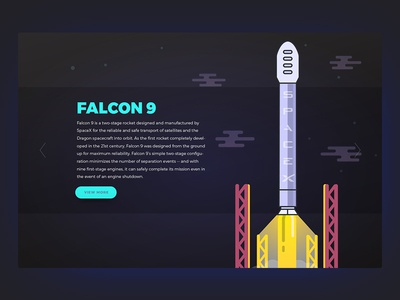 Falcon 9 - 003 spacex falcon 9 space ux ho chi minh dailyui daily challenge ui header