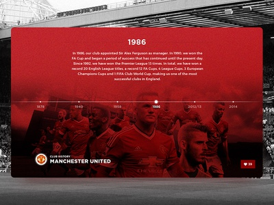 Club History - 006 features holiday challenge daily dailyui ho chi minh ui timeline history manchester united mu