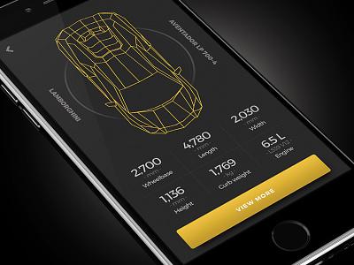 Lamborghini - 007 ui ho chi minh dailyui daily challenge lamborghini infomation app