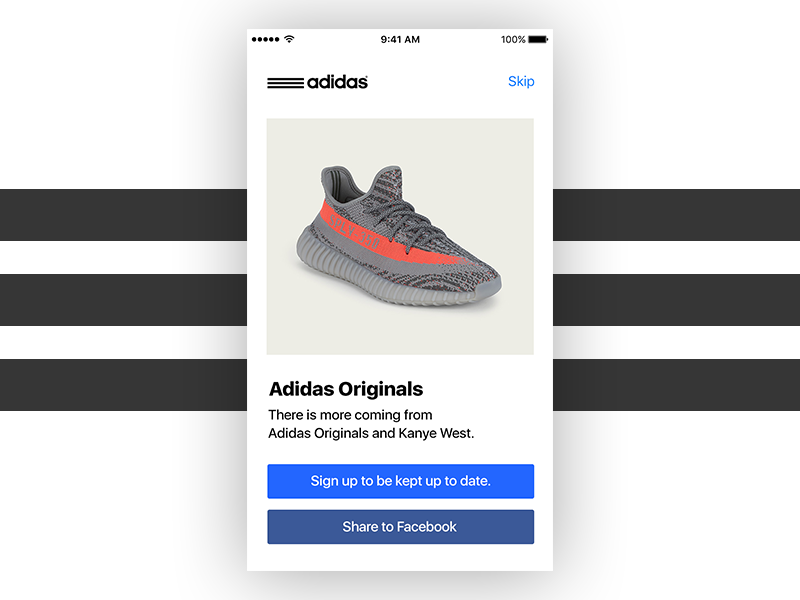 Adidas - 010 app share yeezy welcome challenge daily dailyui ho chi minh ui adidas