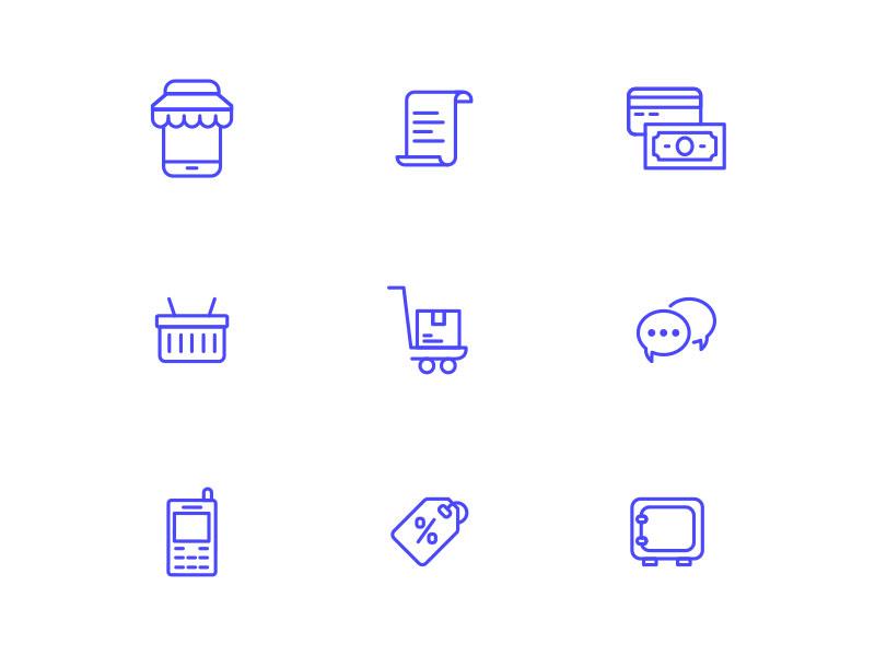 Cash Flow - Free Icon Set 02 app flat free freebie icon icons psd ui web website finance line