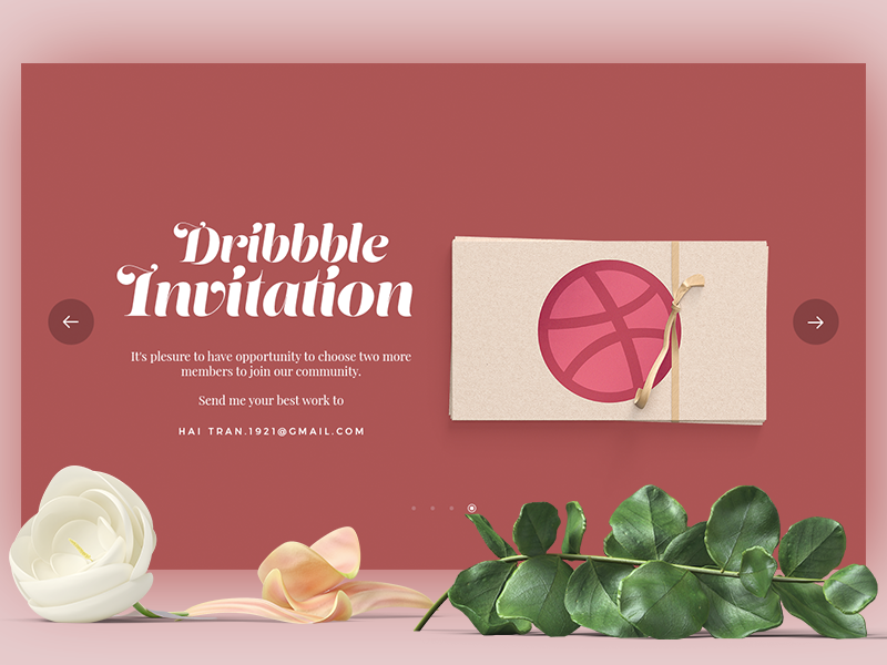 Dribbble Invitation red slide one letter invitation giveaway icon flat envelop dribbble