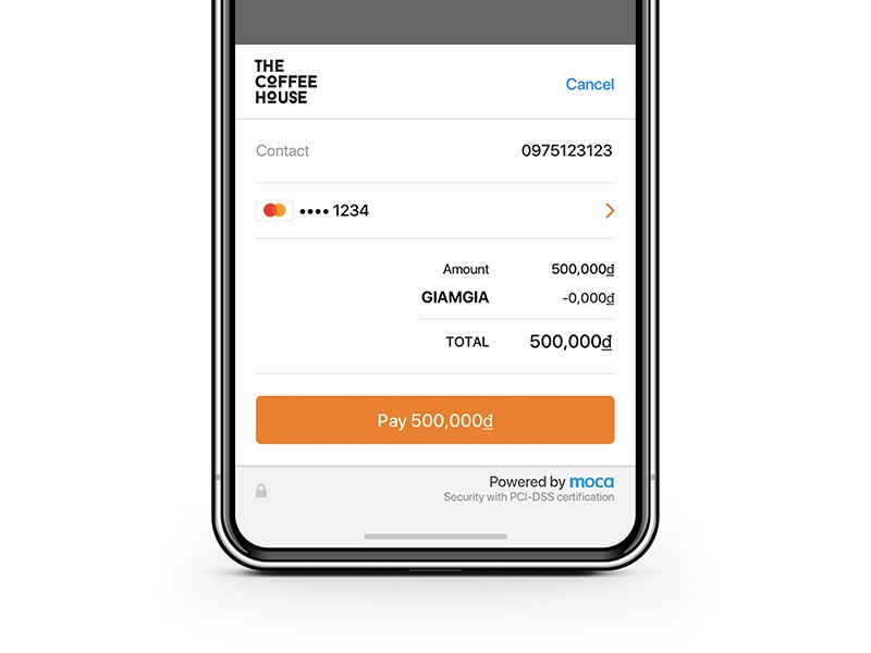 In app payment experience dialog card ui mobile moca experience ux app in payment