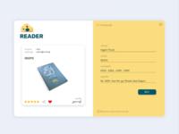 Reader website UI