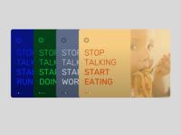 Stop talking . . . Start ********