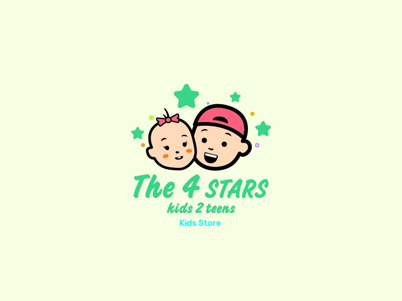 The 4 Stars Logo logo branding illustration illustrator