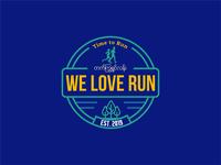 We love run icon