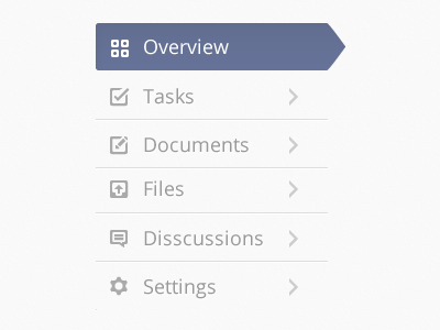 Vertical Menu menu tab