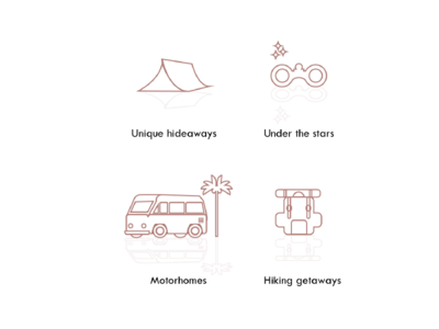 Icons designed for a camping website