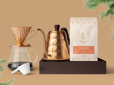 Swala Coffee Roastery QA visual identity project product design pouch packaging sleek design roastery roasters retail print design manufacture container coffee bag coffee clean design caffeine branding brand design brand agriculture