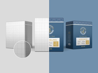 Conestia Omnimus Three visual identity tin can tea packaging smart object psd mockup product design photoshop packaging sleek design roastery roasters retail mockup set metal can manufacture container coffee clean design canister brand design