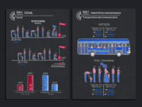 Infographic series for statistic publication