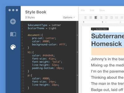 Text Editor Design part IV styles text-editor css ux ui interface editor design dashboard application