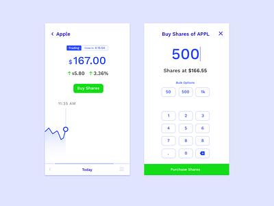 Stock App 📈 design interface apple money framer stock market stock app application chart ui stocks