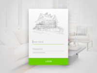 Login panel - Home Cotrol App