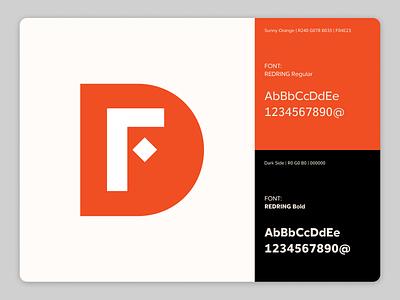 Branding for F. D. typographic design flatdesign identity design visual identity branding design brand identity brand brand design logodesign logotype logo illustration branding font typography