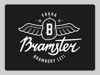 Bramster Branding hand lettering script calligraphy logotypedesign logotypes logo design logodesign logotype logos brand design design font type branding letters fonts typo lettering logo typography