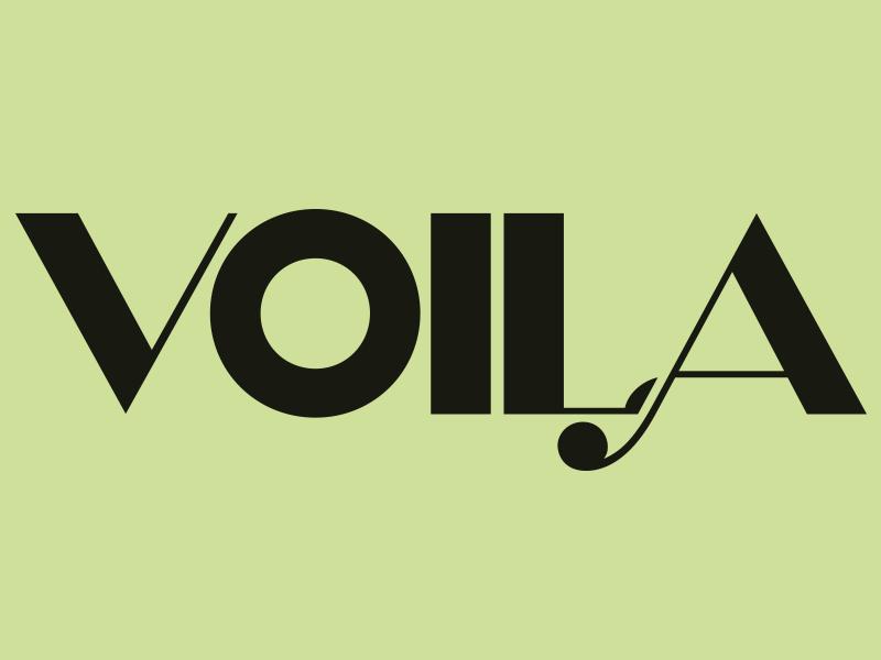 Voila letter branding fonts vector magazine brand type font logo illustration custom type dribble letters design lettering typo typography