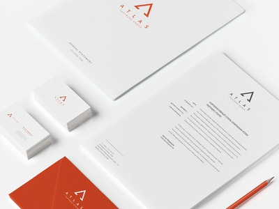 Atlas Partners Branding law firm identity brand branding logo business corporate office stationary design attorney law