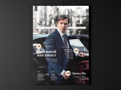 Cover photo for City Magazine lifestyle style city bentley sucsess fashion business design magazine cover photo photography