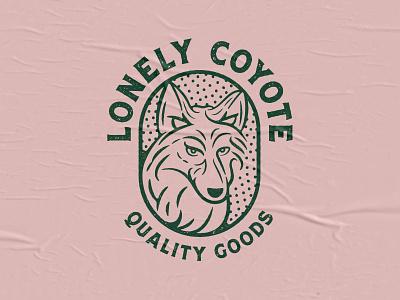 Lonely Coyote coyote logo branding