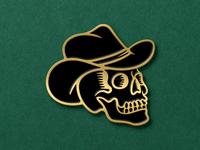 Cowboy Skull Enamel Pin