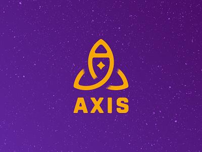 Axis Logo logo space axis rocketship rocket daily logo challenge