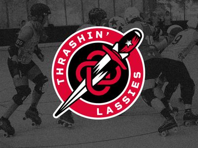 Thrashin' Lassies - Roller Derby Logo