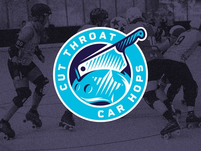 Cut Throat Car Hops - Roller Derby Logo