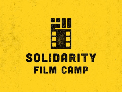 Solidarity Film Camp logo solidarity fist raised fist film