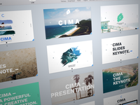 Cima Slides Presentation powerpoint keynote slides presentation google ui ux market me agency product