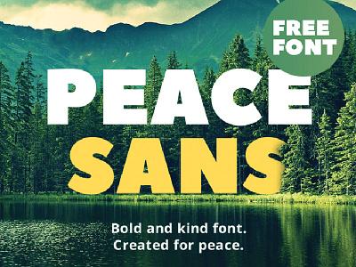 Peace Sans Freebie download resources me market freebies free font